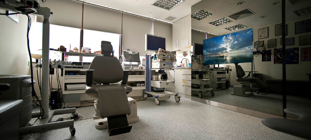 "46.0"" Mirror TV for commercial application, installed in a medical @ ear, nose and throat clinic in Singapore."